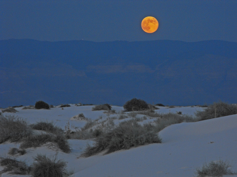 Blue Moon at White Sands, NM