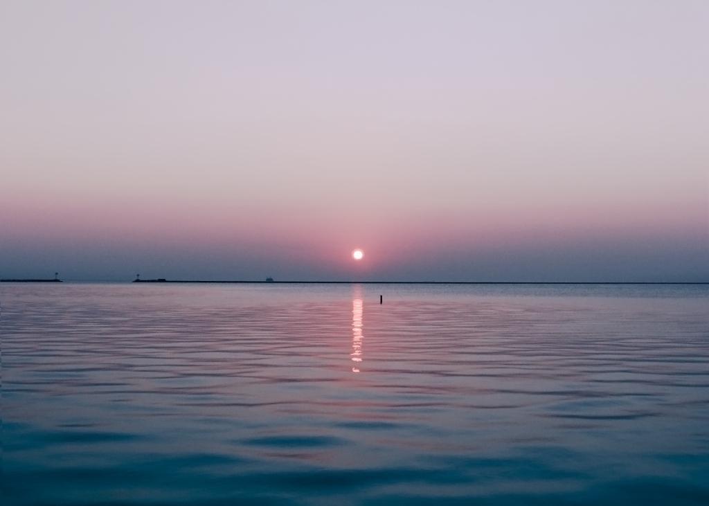 Sunrise lake michigan