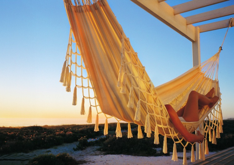 Chilling out in a hammock