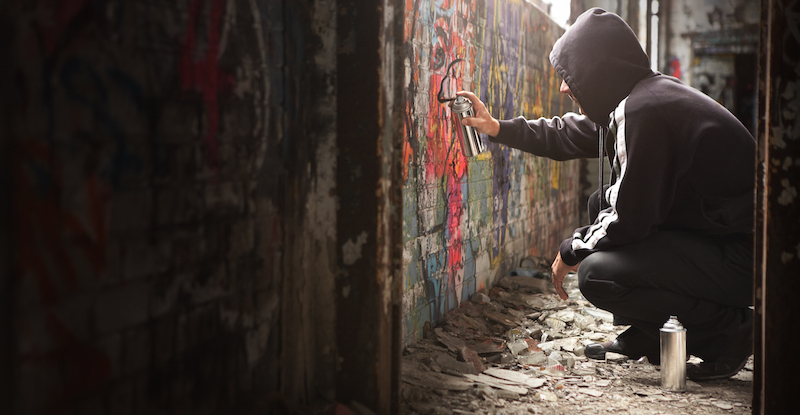 Spray painting in another country