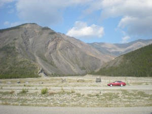 In British Columbia on the Alaska highway, driving from Southern California to Alaska. Photo by the author.