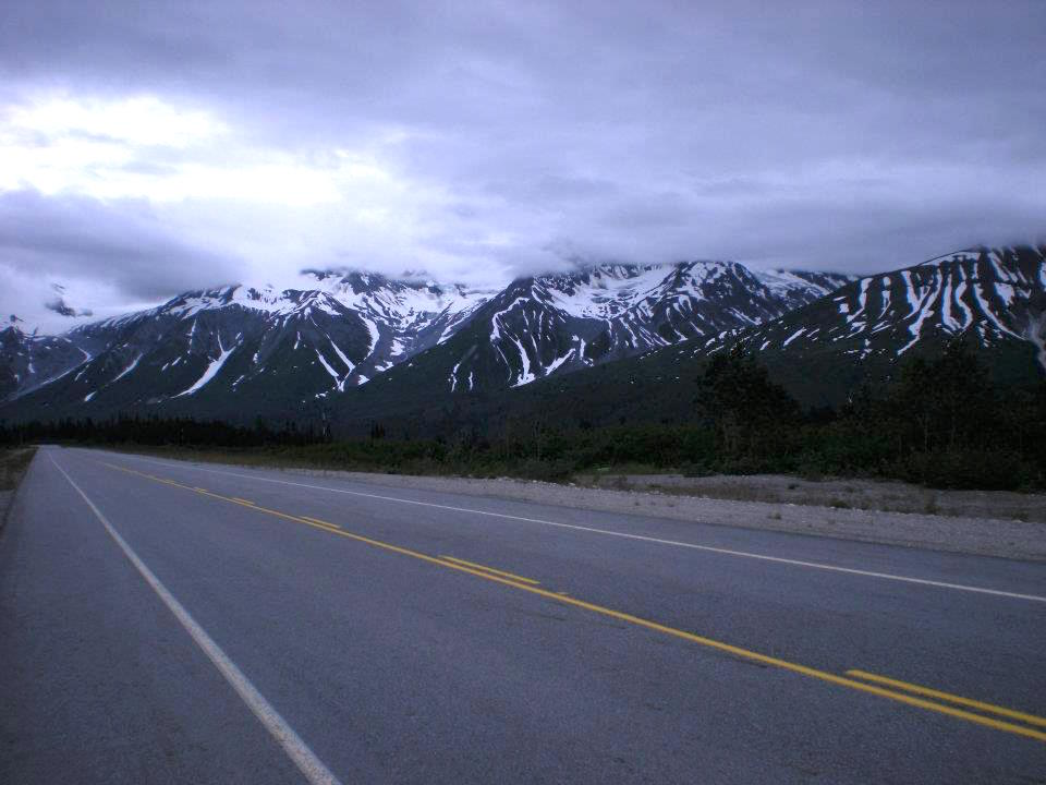 Driving through Alaska