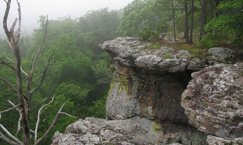 Pedestal Rock in Arkansas